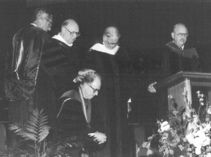 Inauguration of Dr. Donald K. Campbell. Click for enlarged image.