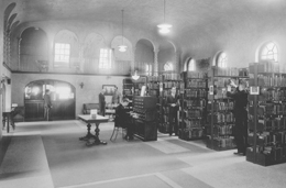 Library in Davidson Hall. Click for enlarged image.