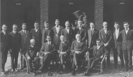 Original Faculty and First Students. Click for enlarged image.