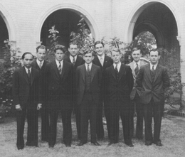Foreign Students in 1931. Click for enlarged image.