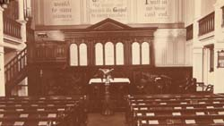 Interior of St. Paul's, Portman Square, London. Click for enlarged image.