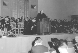 Inauguration of Dr. John F. Walvoord. Click for enlarged image.